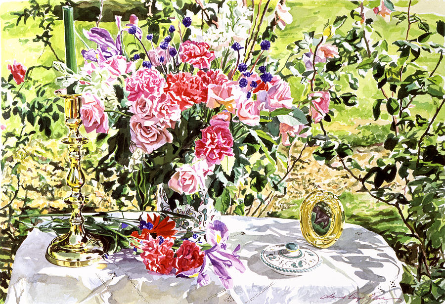 Still Life In The Artists Garden Painting  - Still Life In The Artists Garden Fine Art Print