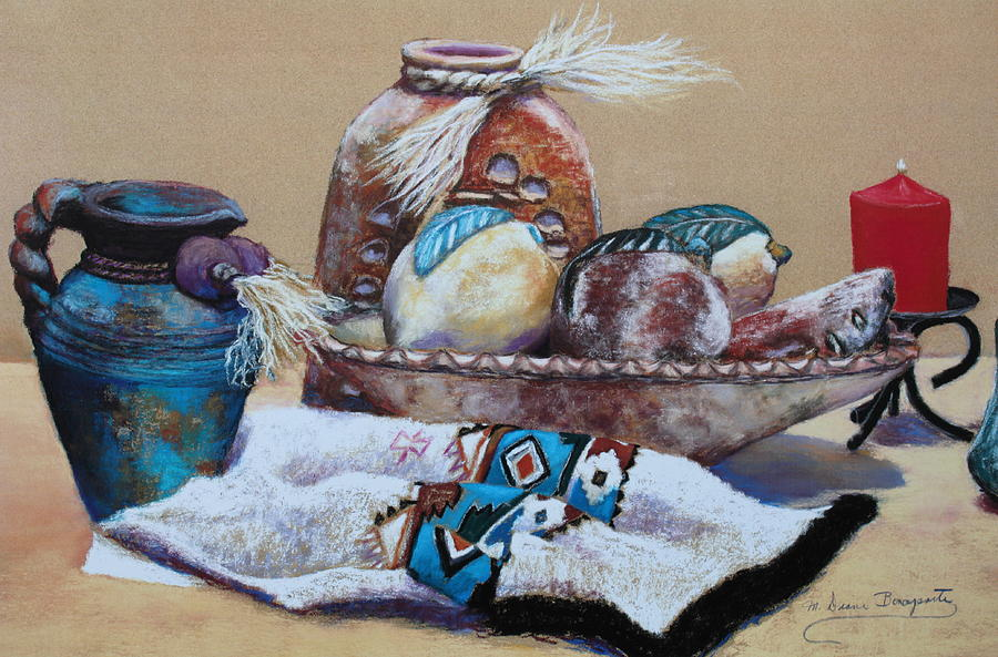 Pottery Painting - Still Life by M Diane Bonaparte