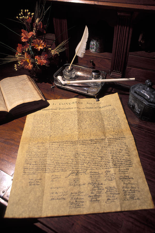Still Life Of A Copy Of The Declaration Photograph