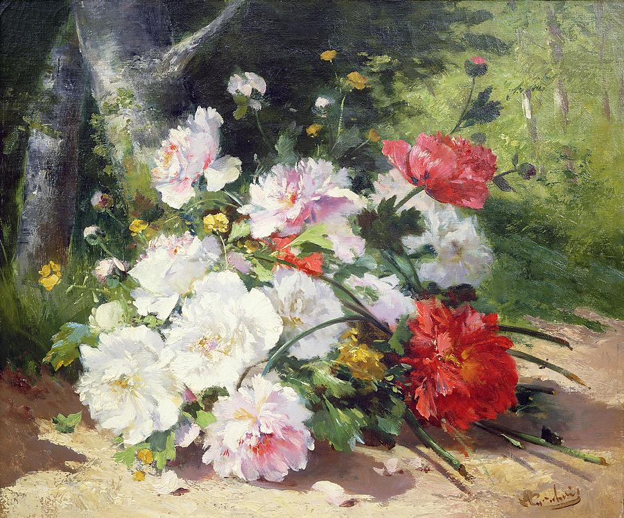 Still Life Of Flowers Painting