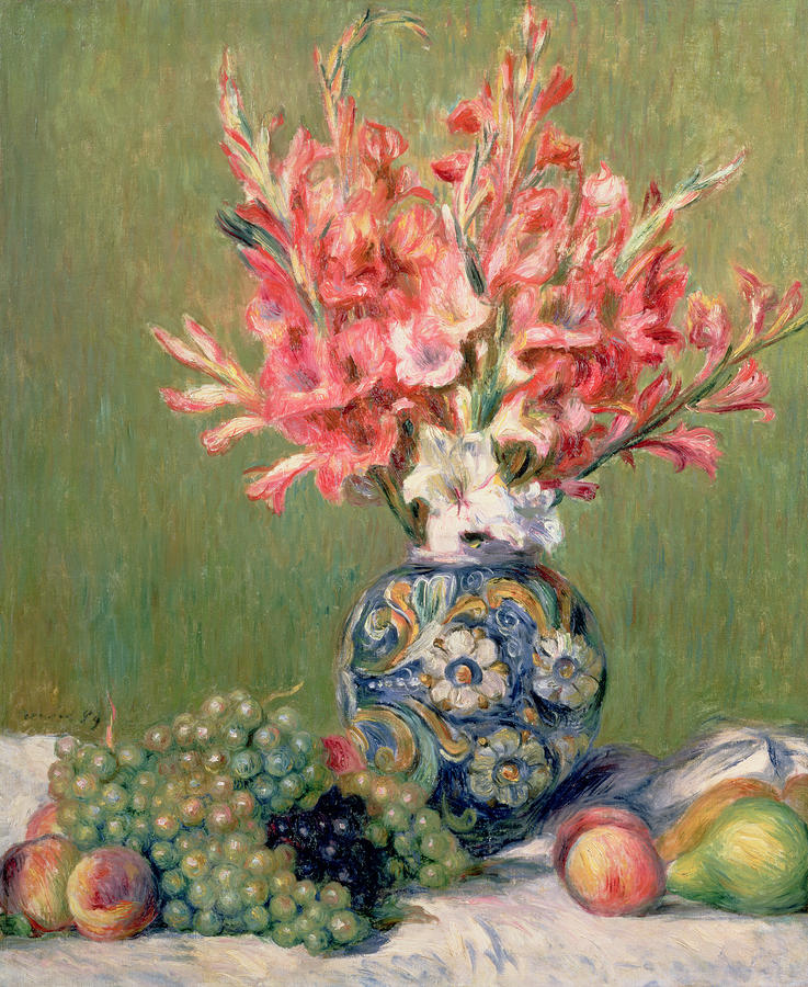 Still Life Of Fruits And Flowers Painting