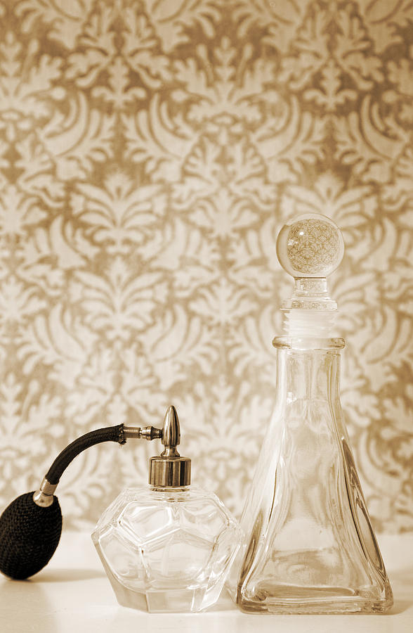 Still Life Of Perfume Decanters Photograph