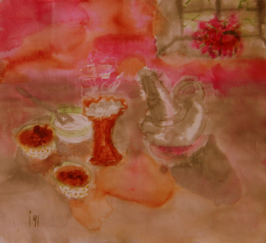 Still Life Sudanese Coffee Painting