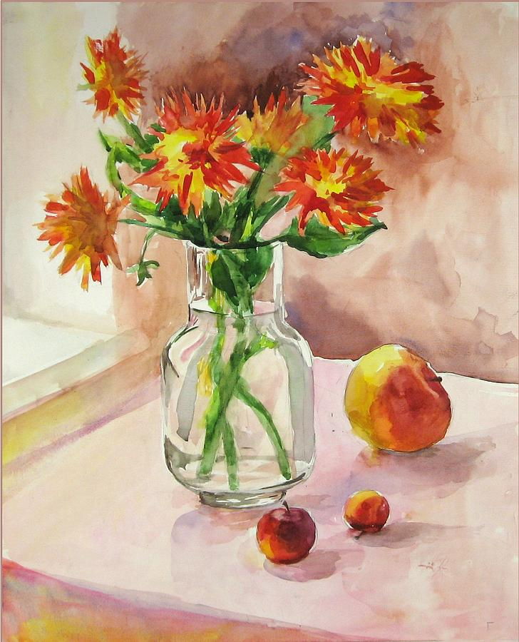 Still-life With Asters Painting