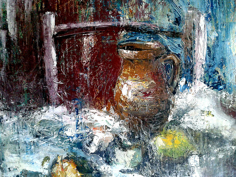 Still-life Painting - Still Life With Chair by Joe Tiszai