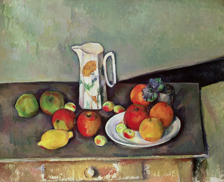 Still Life With Milkjug And Fruit Painting