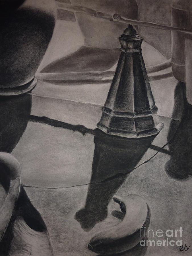 Still Life With Salt Shaker Drawing