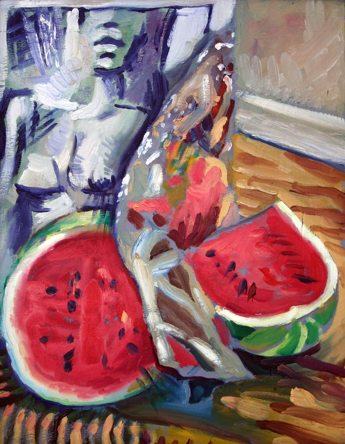 Still Life Wth Nude 2 Painting