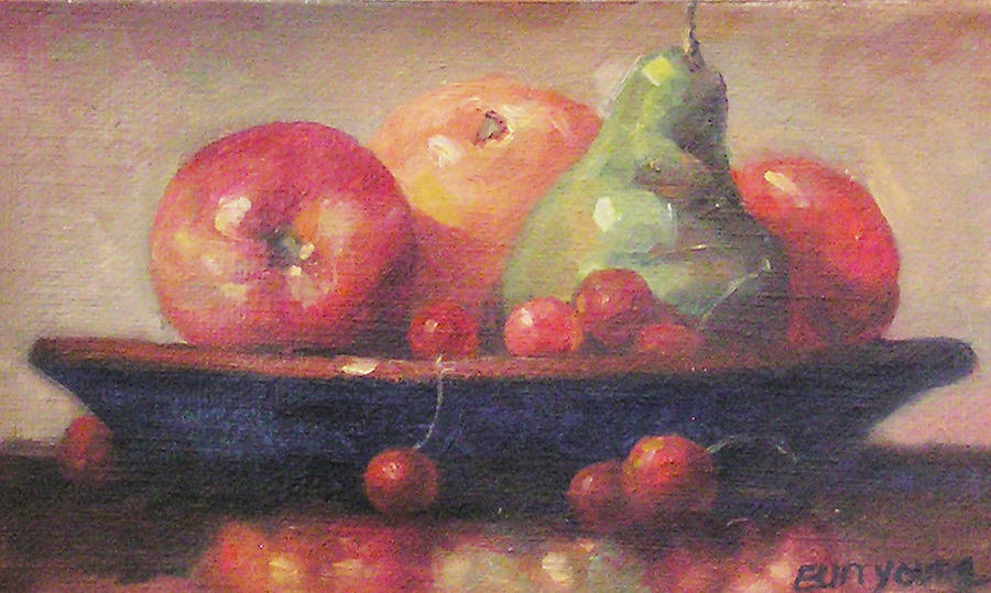 Still Life Oil Painting Painting - Still Life1 by Eun Yun