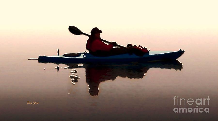 Kayak Digital Art - Still Waters by Dale   Ford