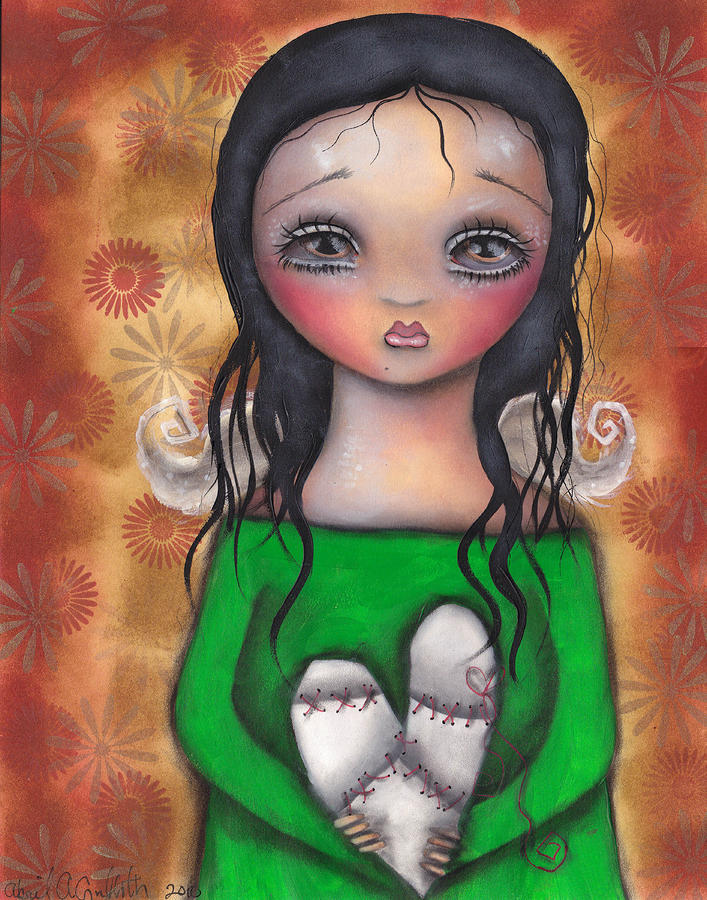 Stitched Up Love Painting  - Stitched Up Love Fine Art Print