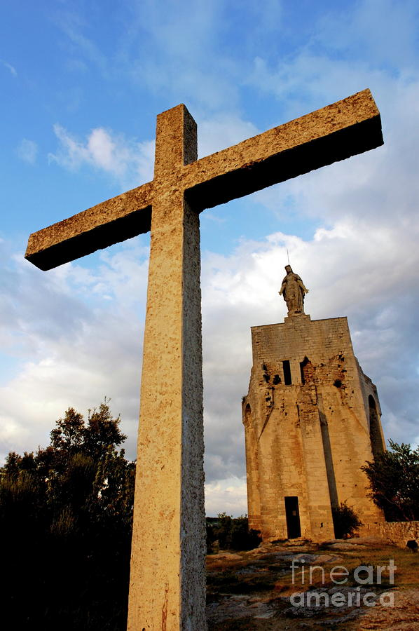 Stone Crucifix Photograph