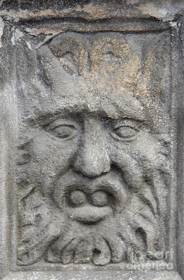 Stone Face Sculpture