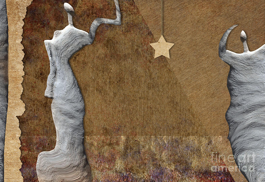Woman Digital Art - Stone Men 30-33 - Les Femmes by Variance Collections