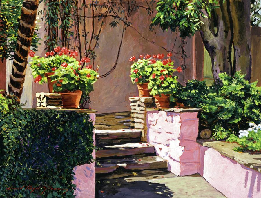 Stone Patio California Painting