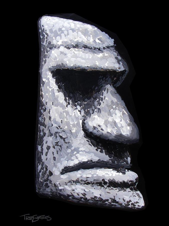 Stone Tiki Man Painting