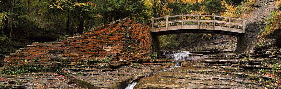Stone Walls And Wooden Bridges Photograph