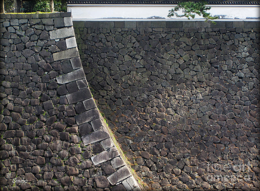 Imperial Palace Photograph - Stone Walls by Eena Bo