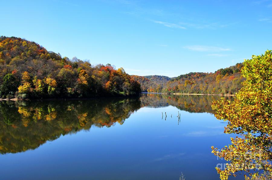 Stonecoal Lake In Autumn Color Photograph
