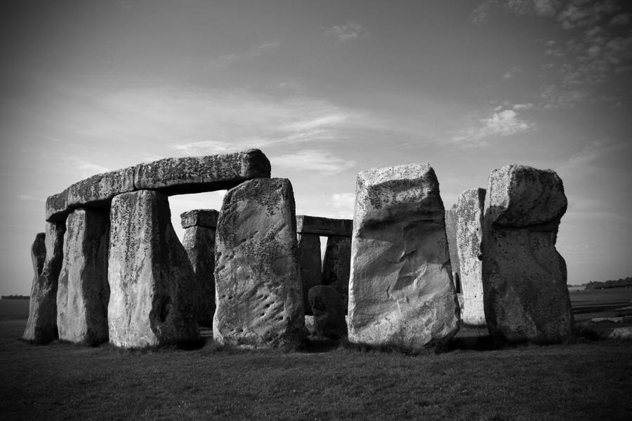 Stonehenge No 1 Bw Photograph
