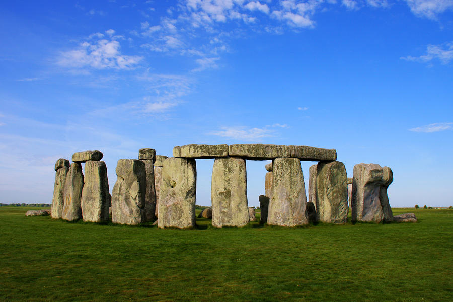 Stonehenge On A Clear Blue Day Photograph