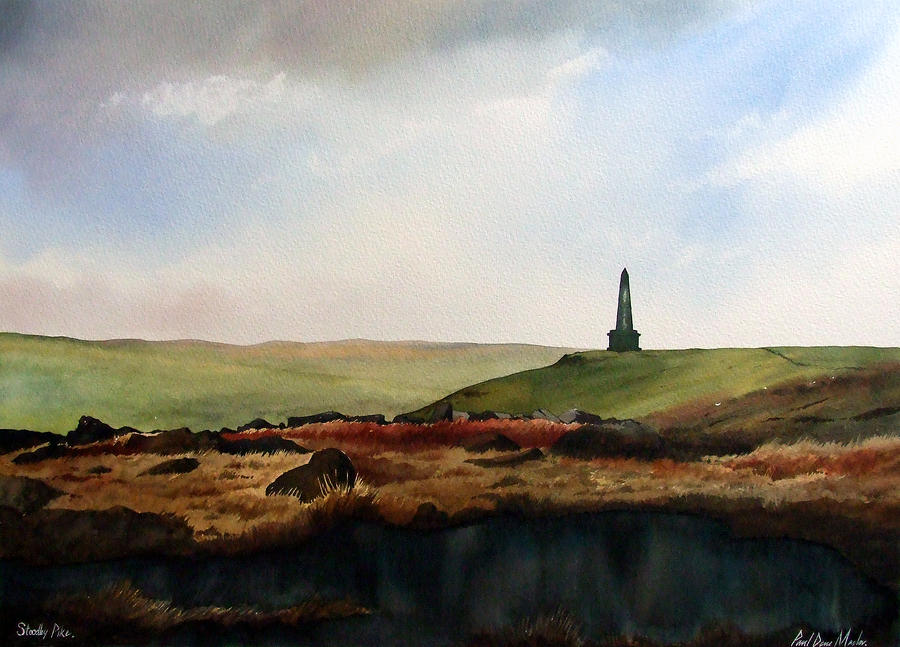Stoodley Pike Painting  - Stoodley Pike Fine Art Print