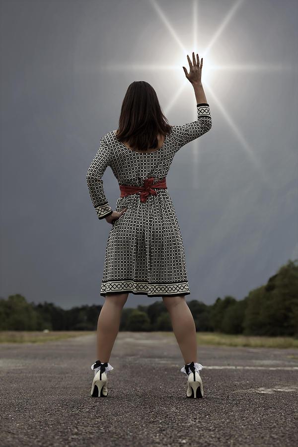 Woman Photograph - Stop The Sun by Joana Kruse