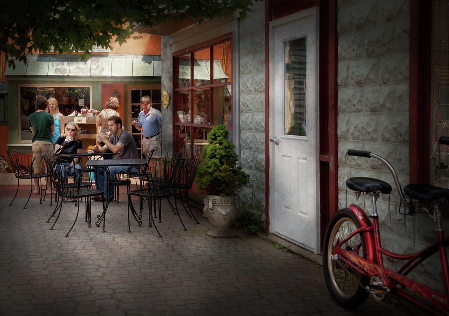 Hdr Photograph - Storefront - Frenchtown Nj - At A Quaint Bistro  by Mike Savad
