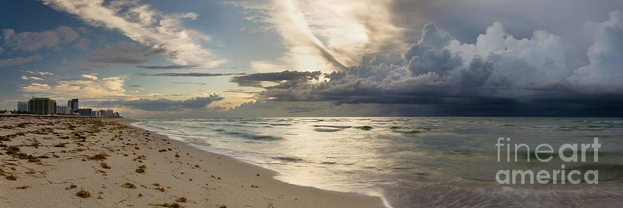 Storm Approaches Miami Beach Photograph  - Storm Approaches Miami Beach Fine Art Print