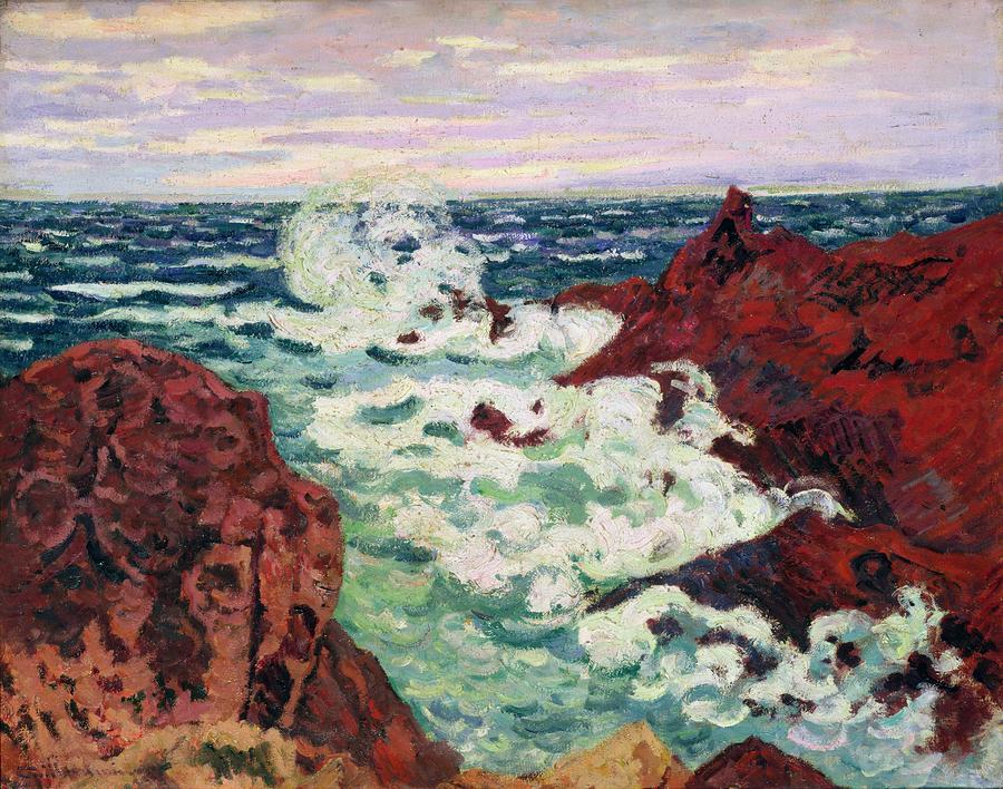 Storm At Agay Painting