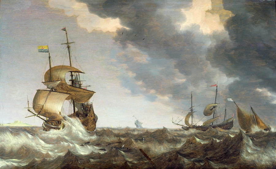 Storm At Sea Painting