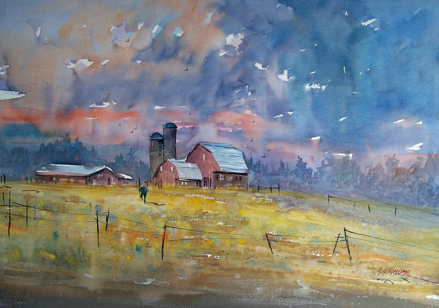 Storm Brewing Painting