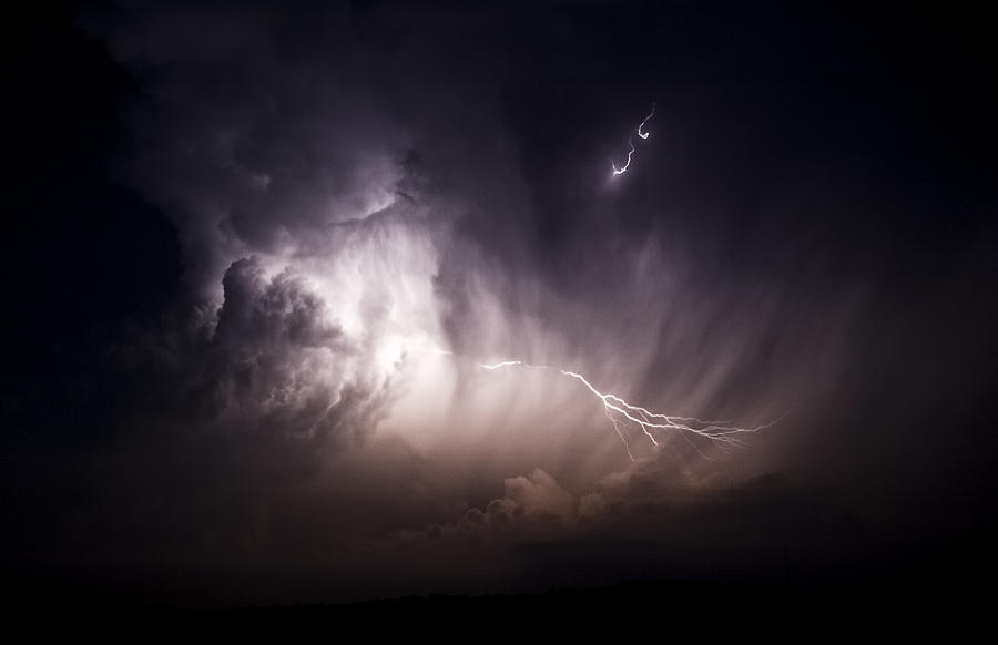 Storm clouds with lightning