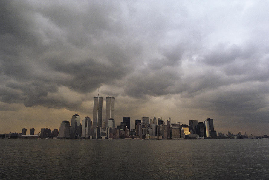 Storm Clouds Over Lower Manhattan Photograph
