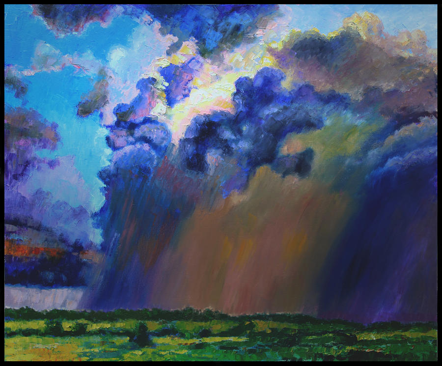 Storm Clouds Painting - Storm Clouds Over Missouri by John Lautermilch