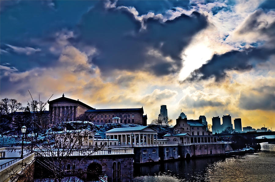 Storm Clouds Over Philadelphia Photograph  - Storm Clouds Over Philadelphia Fine Art Print