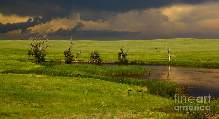 Storm Crossing Prairie 1 Photograph  - Storm Crossing Prairie 1 Fine Art Print