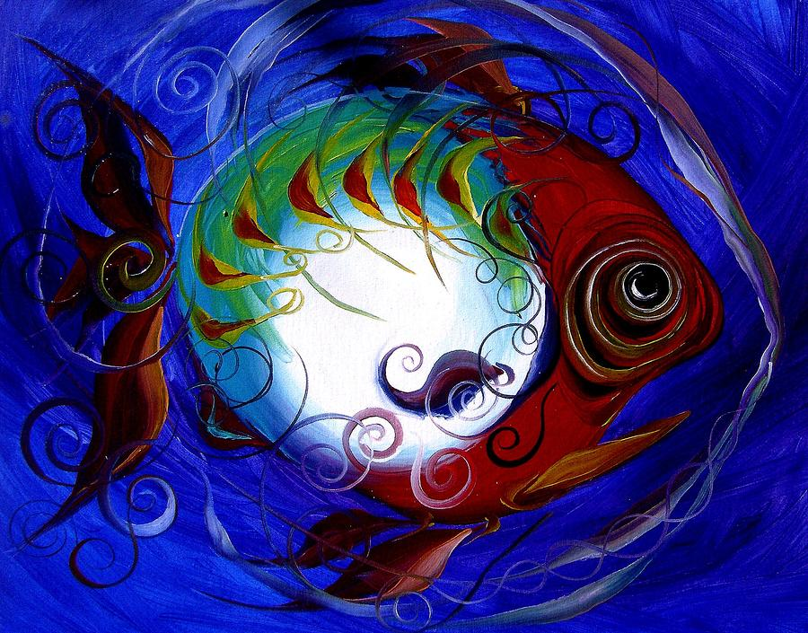 Storm Fish Iv Painting  - Storm Fish Iv Fine Art Print