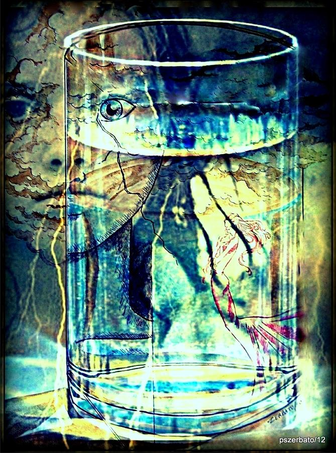 Storm In A Glass Of Water Digital Art  - Storm In A Glass Of Water Fine Art Print