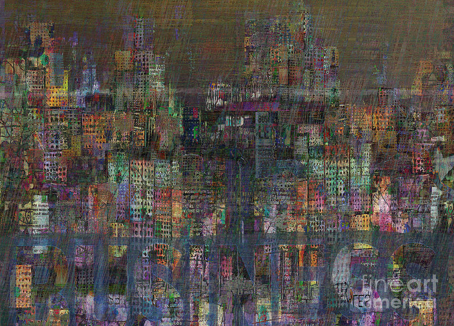 Storm In The City  Digital Art  - Storm In The City  Fine Art Print
