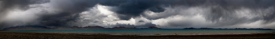 Storm On Karakul Lake. Panorama Photograph