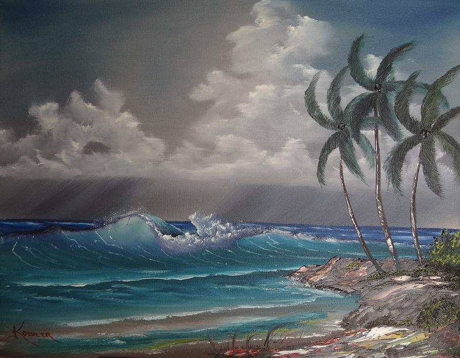 Seascape Painting - Storm On The Horizon by John Koehler