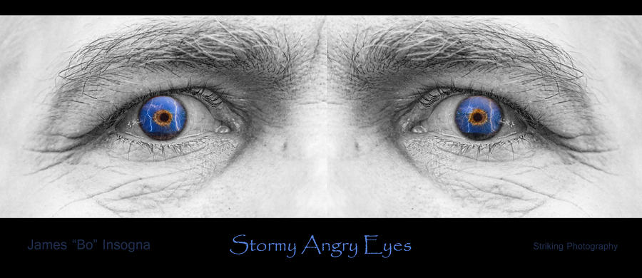 Stormy Angry Eyes Poster Print Photograph