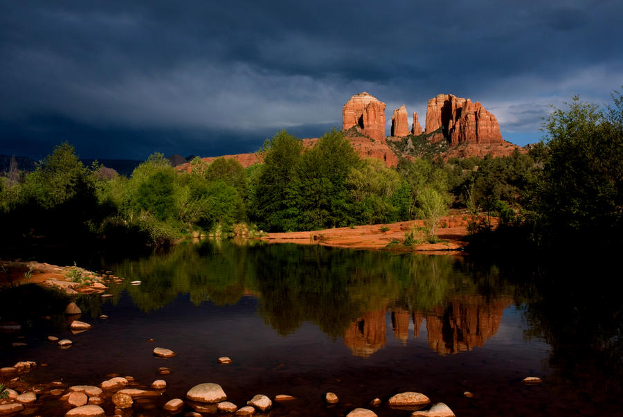 Stormy Day At Cathedral Rock Photograph