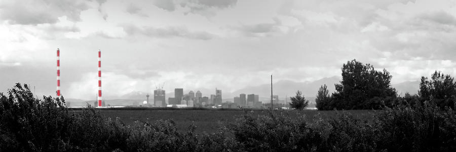 Stormy Day Calgary Cityscape Photograph