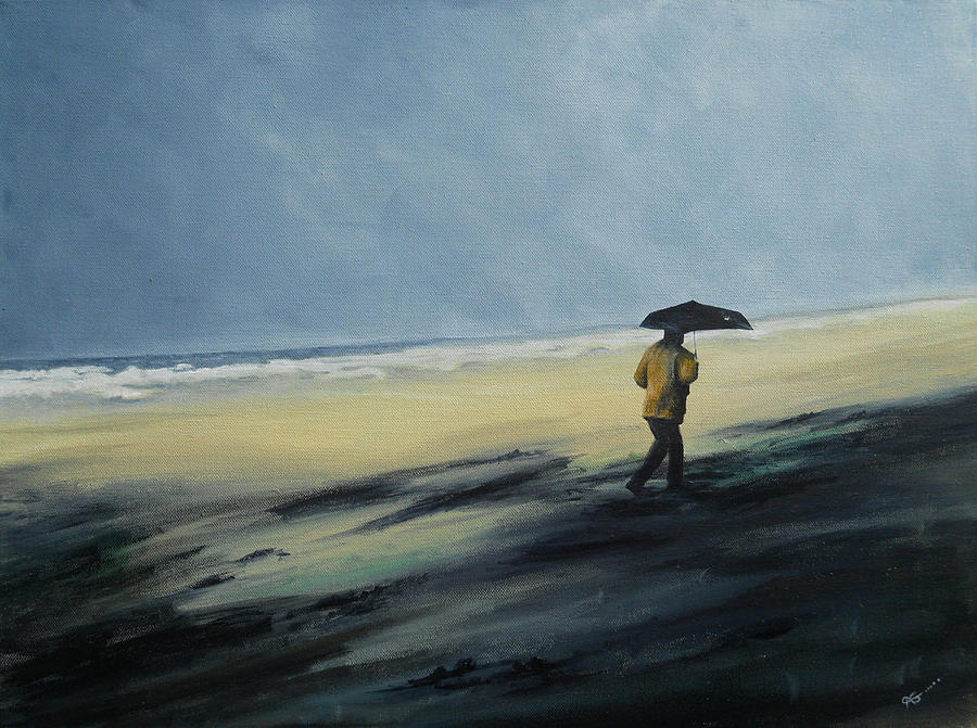 Stormy Day Painting  - Stormy Day Fine Art Print