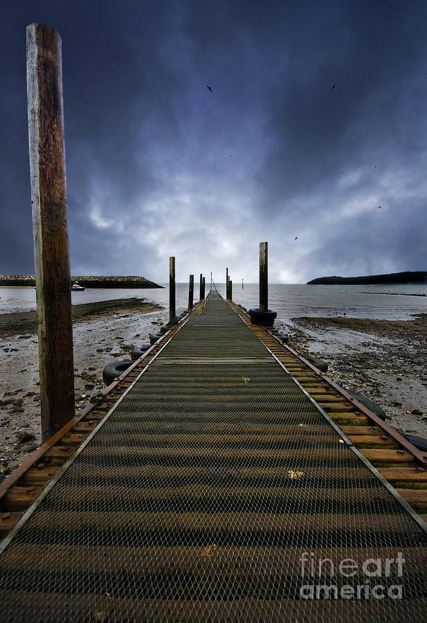 Stormy Jetty Photograph
