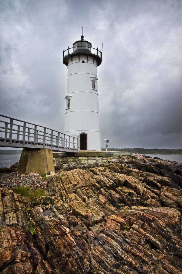 Stormy Lighthouse Photograph
