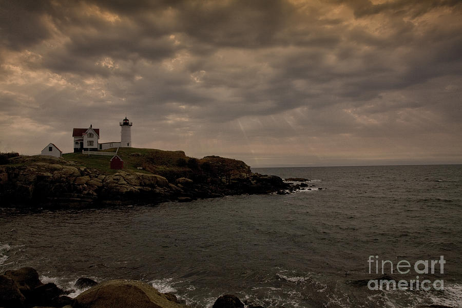 Stormy Nubble Photograph  - Stormy Nubble Fine Art Print