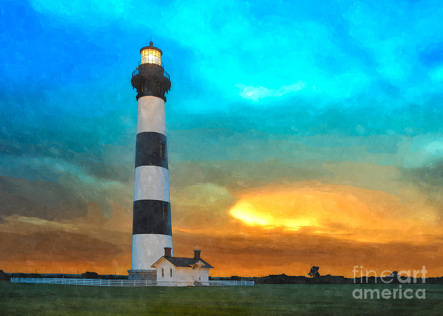 Stormy Sunrise Wc Painting  - Stormy Sunrise Wc Fine Art Print